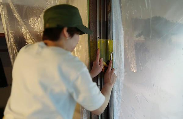 窓ガラスフィルム貼りのharoca